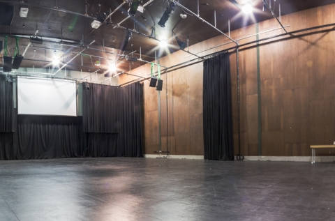 Inside of Performance Space, including Screen