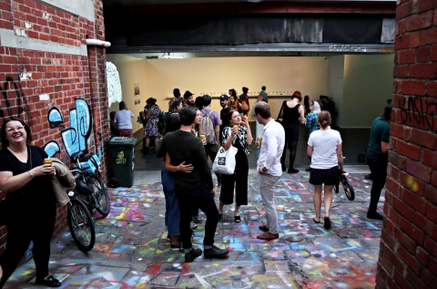 Event space opens onto laneway