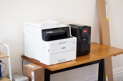 Our brother and 3D printers available for use.