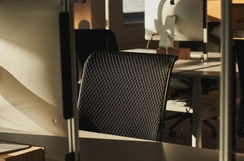 Close up of sit/stand desks