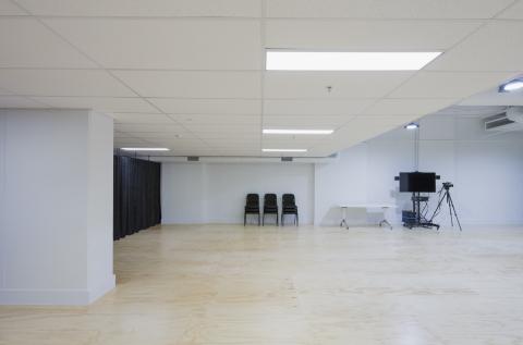 Studio features sprung floors