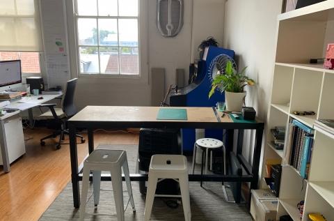 View of space (current tenant belongings)