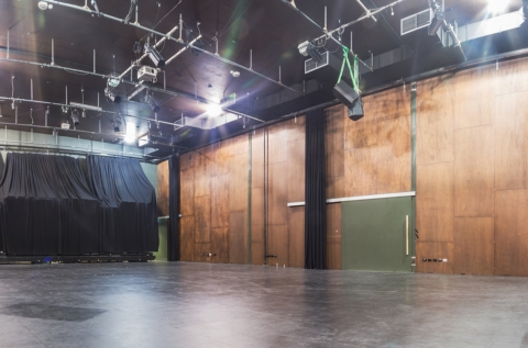 Inside of Performance space without seating bank