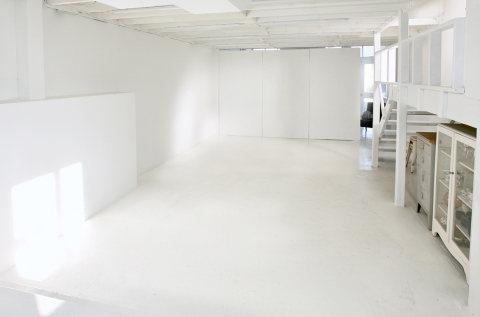 The open studio space