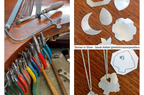 Stories in Silver - Saw-cutting and pierced Pendant with Sarah Kellett, from Kellett Master Jewellers