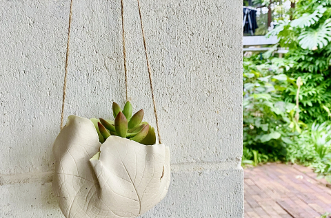 Organic Pottery Workshop: Make Leaf-shaped Planters and Platters