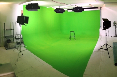 Panorama of Greenscreen studio