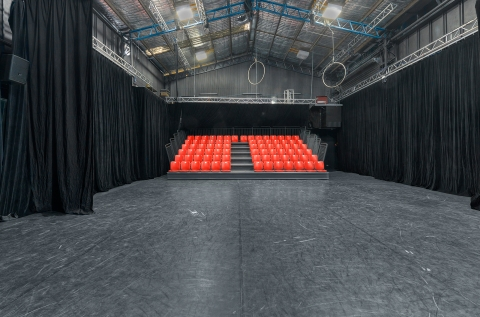 Theatre space view at retractable seating