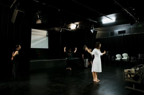 Dance rehearsal. Black Box Theatre