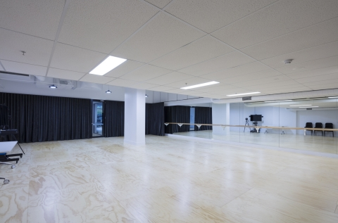 Light, large studio space