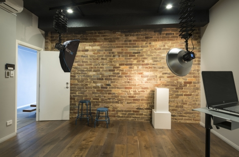 Studio 2 - raw brick wall