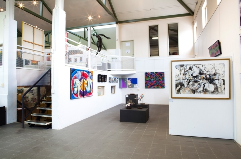 Ground floor view of mezzanine studio