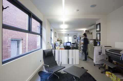 main office, detail