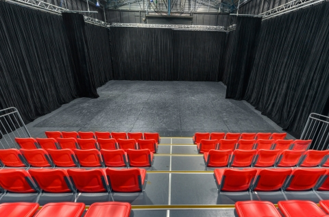 Theatre space view from retractable seating