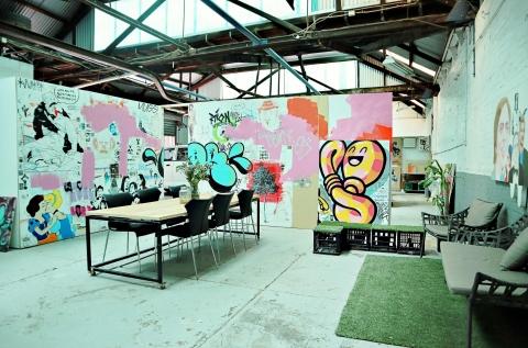 Artists communal studio space