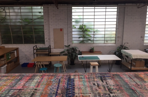 common area and top of screen print table