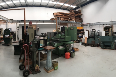 Pano view of the main work area
