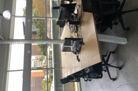 Row of 4-5 desks available