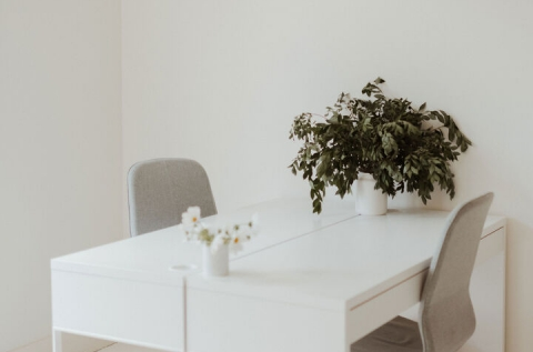 Desks & chairs available to hire